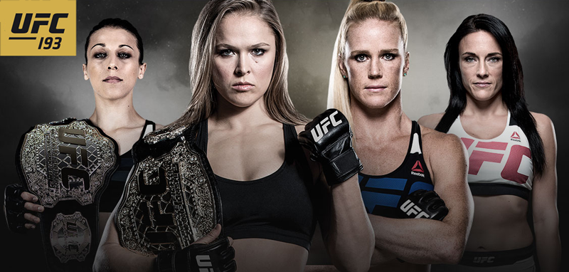 "Ronda ""Rowdy"" Rousey VS Holly ""The Preacher's Daughter"" Holm Live from Australia"